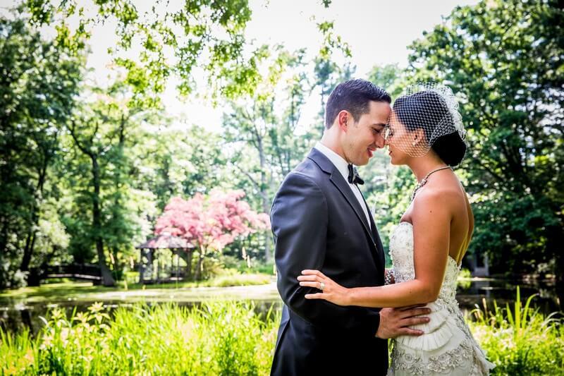 The wedding couple photo