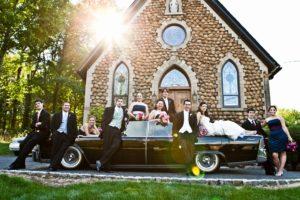 photo of the wedding gang