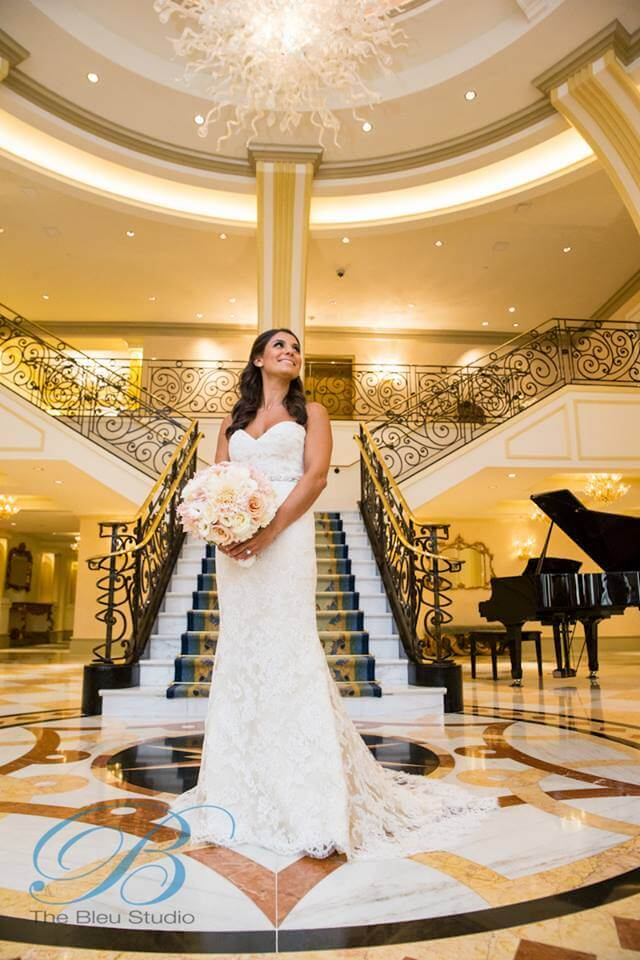 Bride standing in foyer
