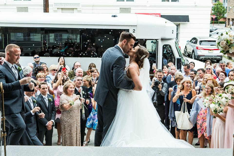 bleu studio bubble send off wedding