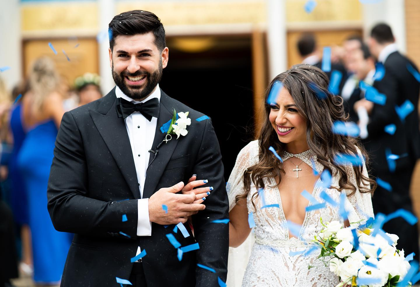 egyptian coptic couple about to make their vows